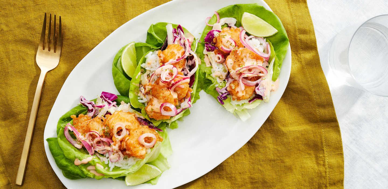 Salsa Shrimp Lettuce Wraps Personalized Customized Diet Plans